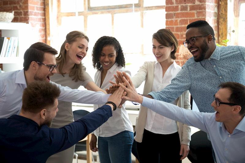 teamwork group woman leader